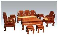 王义红木客厅家具 明式沙发八件套