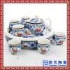 批发供应陶瓷冰裂功夫茶具 实木茶盘套装 特价批发