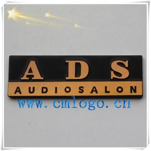 供应音响压铸铝标牌 氧化高光铭牌 logo五金贴