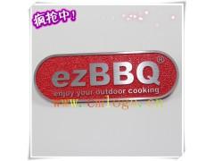 供应烤炉压铸标牌 红沙底拉纹铭牌 logo牌 包邮