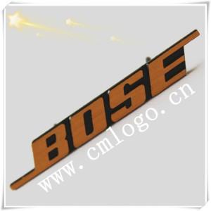 南海标牌厂家 定制BOSS音响压铸标牌 丝印拉纹铭牌