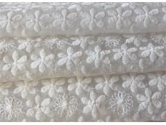 服装面料 1.3米牛奶丝钻石网水溶满幅面料 沙发家纺蕾丝面料