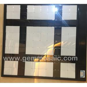 佛山马赛克工厂黑白搭配混拼欧式时尚 欢迎DIY来图定制