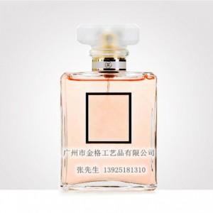 100ml方形玻璃香水瓶 配套玻璃四方磨砂盖子