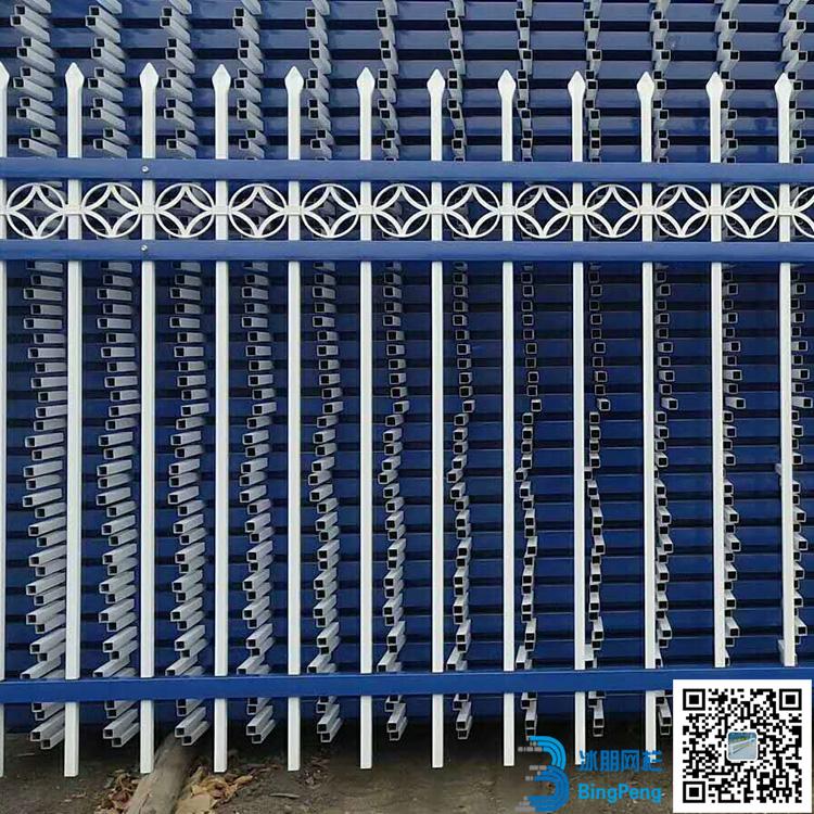 长期供应 别墅简易隔离围墙护栏 学校操场锌钢围墙护栏