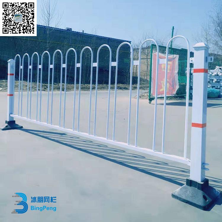 现货 市政交通隔离京式锌钢护栏 道路公路中间喷塑安全防护栏