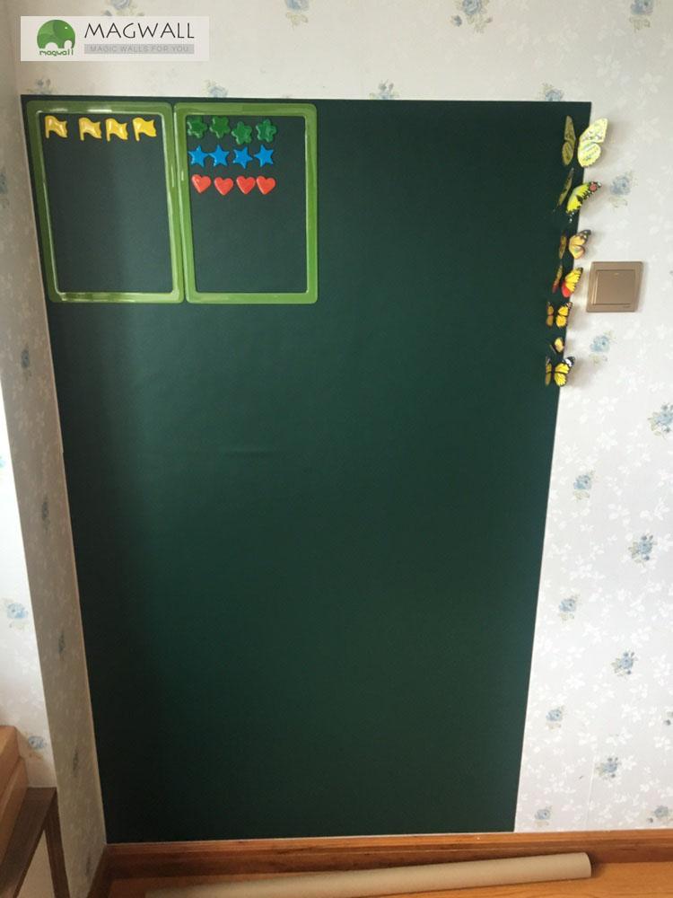 磁善家办公教学多用环保无尘磁性自粘绿板