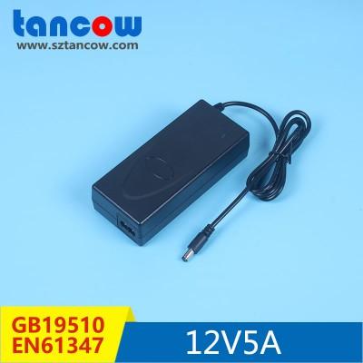 12V5A 灯具电源适配器 标准过谐波测试 PF>0.9