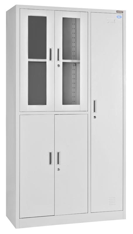 5门更衣柜厂家直销钢制五门玻璃更衣柜可定制