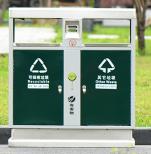 不锈钢垃圾桶户外分类环保公园市政垃圾箱圆形方形酒店垃圾桶定制