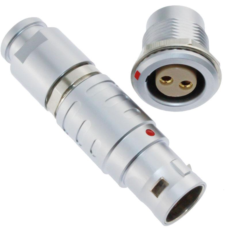 长方捷连接器2芯塑料金属推拉自锁插头插座测试线束电源信号线