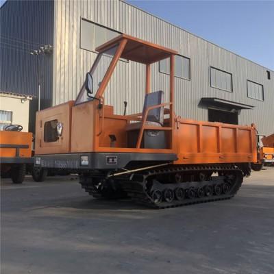 小型大棚履带车 1吨手推自卸车