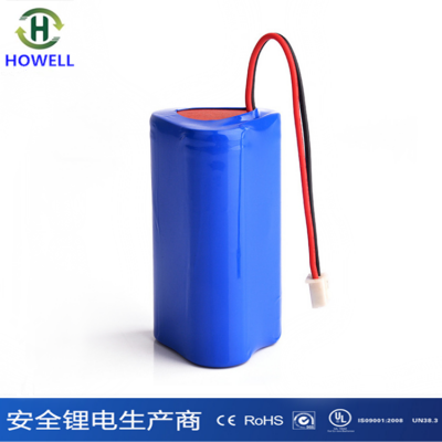 12V圆柱形18650锂电池组2600mAh电动工具锂电池