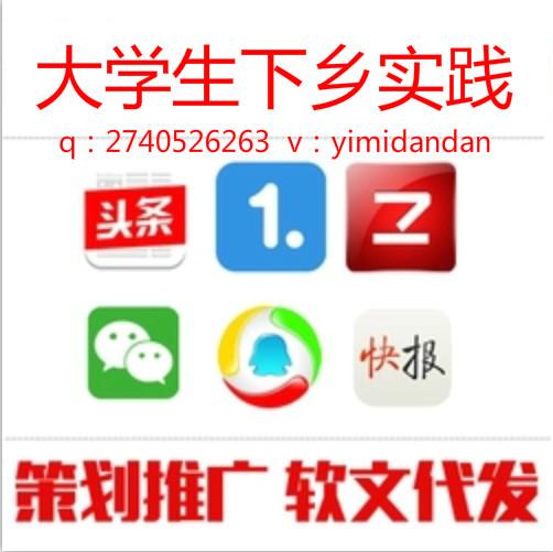 弋米科技暑假社会实践三下乡大学学院中青北青省级投稿代发