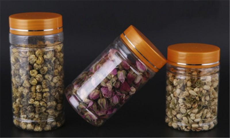 食品塑料罐圆形塑料罐子食品塑料罐子pet透明食品罐
