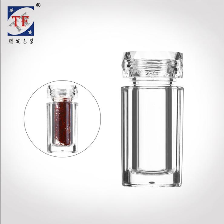 亚克力瓶 虫草珍珠粉含片透明塑料瓶