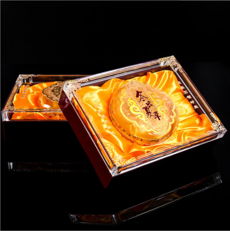通用 可定制LOGO 专用透明亚克力水晶 海参食品包装礼盒