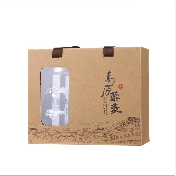高档礼盒套装两瓶装特产580ml通用包装牛皮纸袋现货