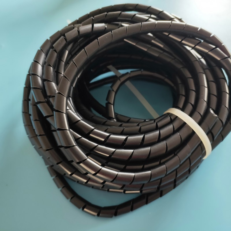 白、黑色透明缠绕管12MM 卷式保护带 电线尼龙管