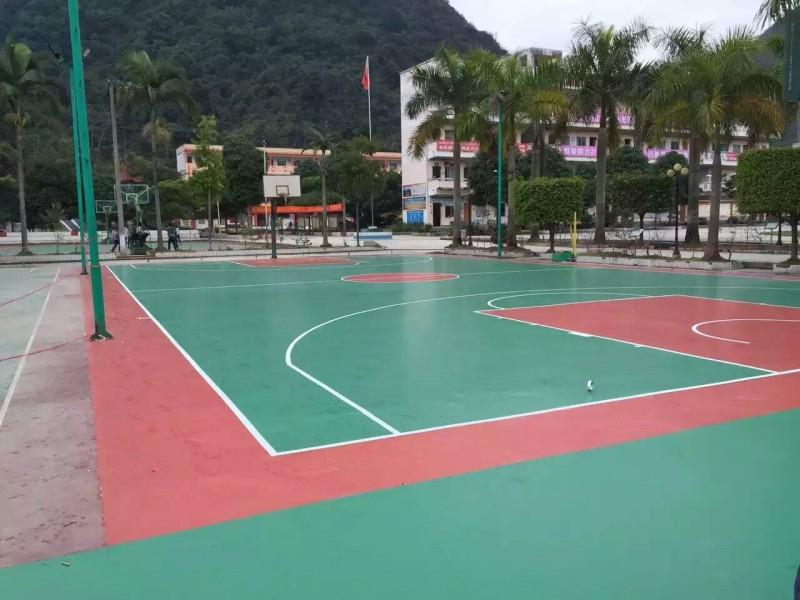 南宁篮球场地板铺设-塑胶运动地板铺设-室外操场地地面