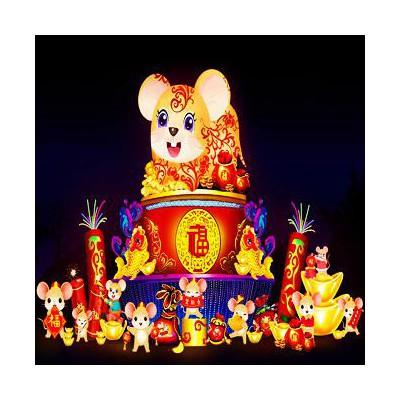 鼠年花灯制作 新年花灯免费设计制作 自贡彩灯设计