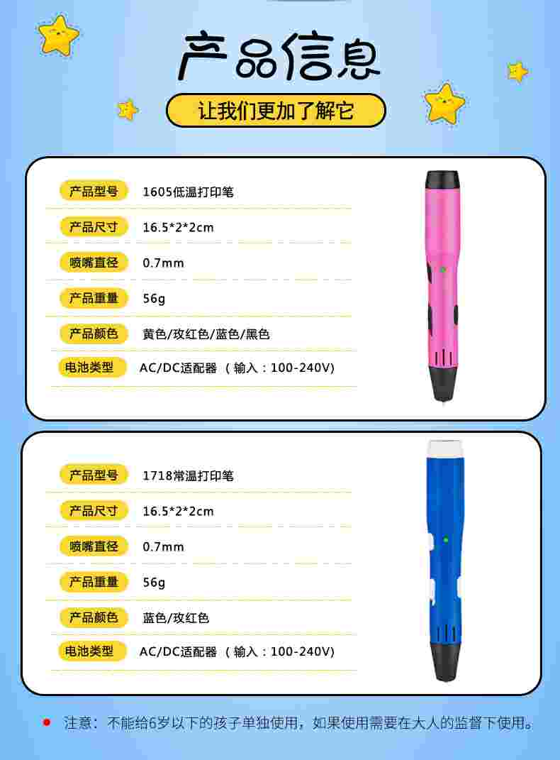 创客教育专业高低温三维打印笔设备