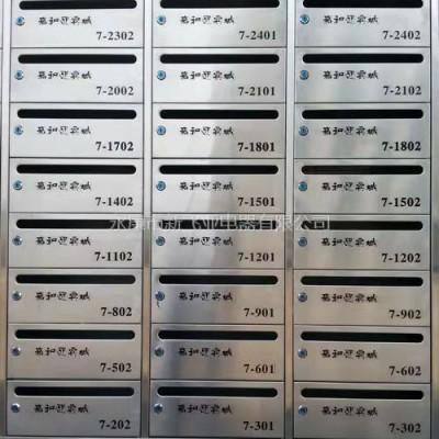 上海城市投资建设动迁安置房不锈钢信报箱