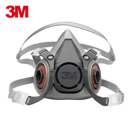 3M6200防毒面具防甲醛防有机气体防化工喷漆防毒防尘半面罩